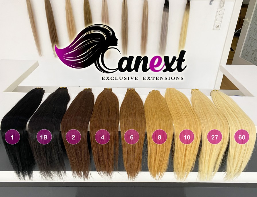 Tape Extensions Farbtabelle Canext Bremen