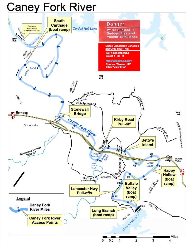 Caney Fork River Map
