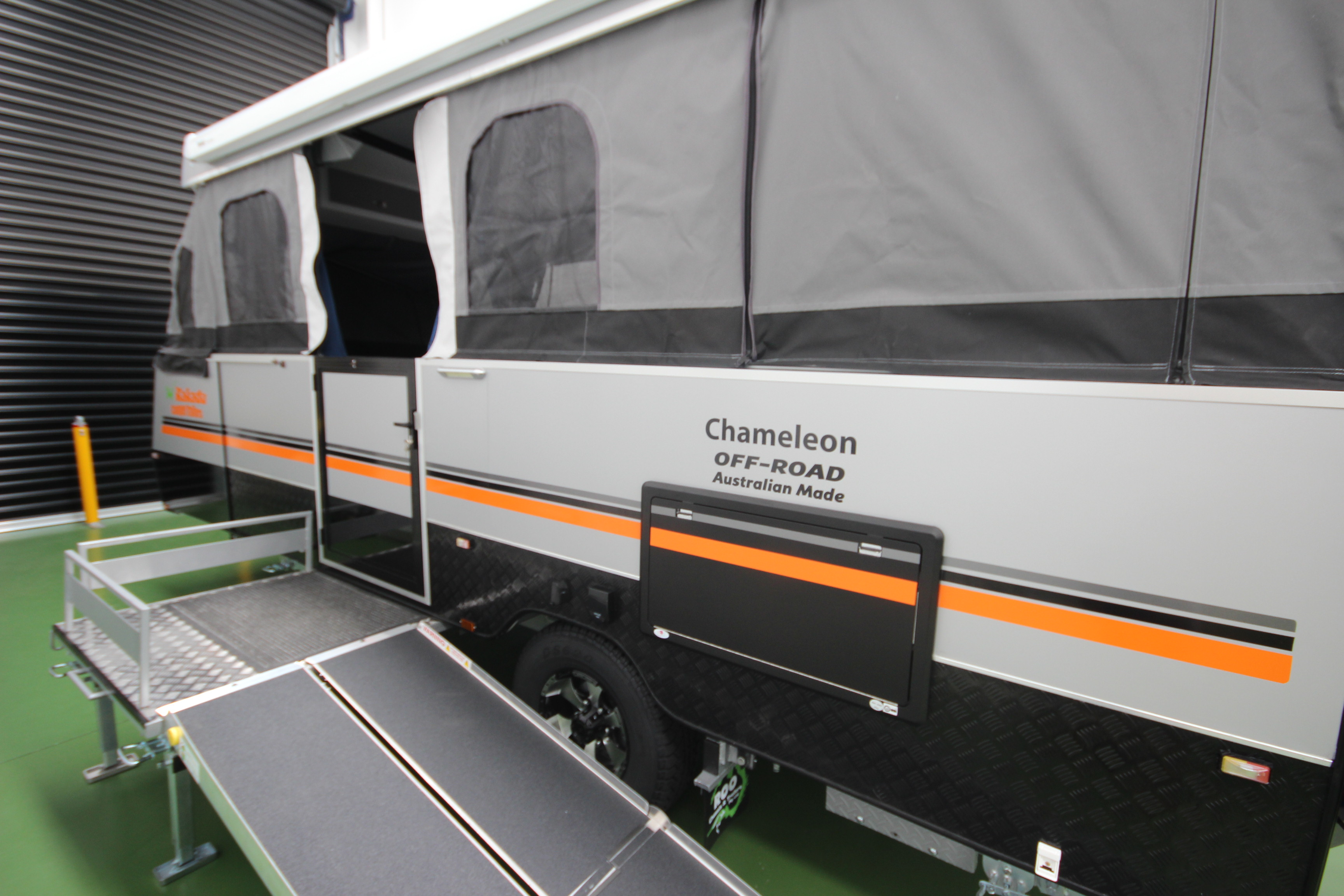 wheelchair trailer brown dining room chair covers go off road with a accessible camper