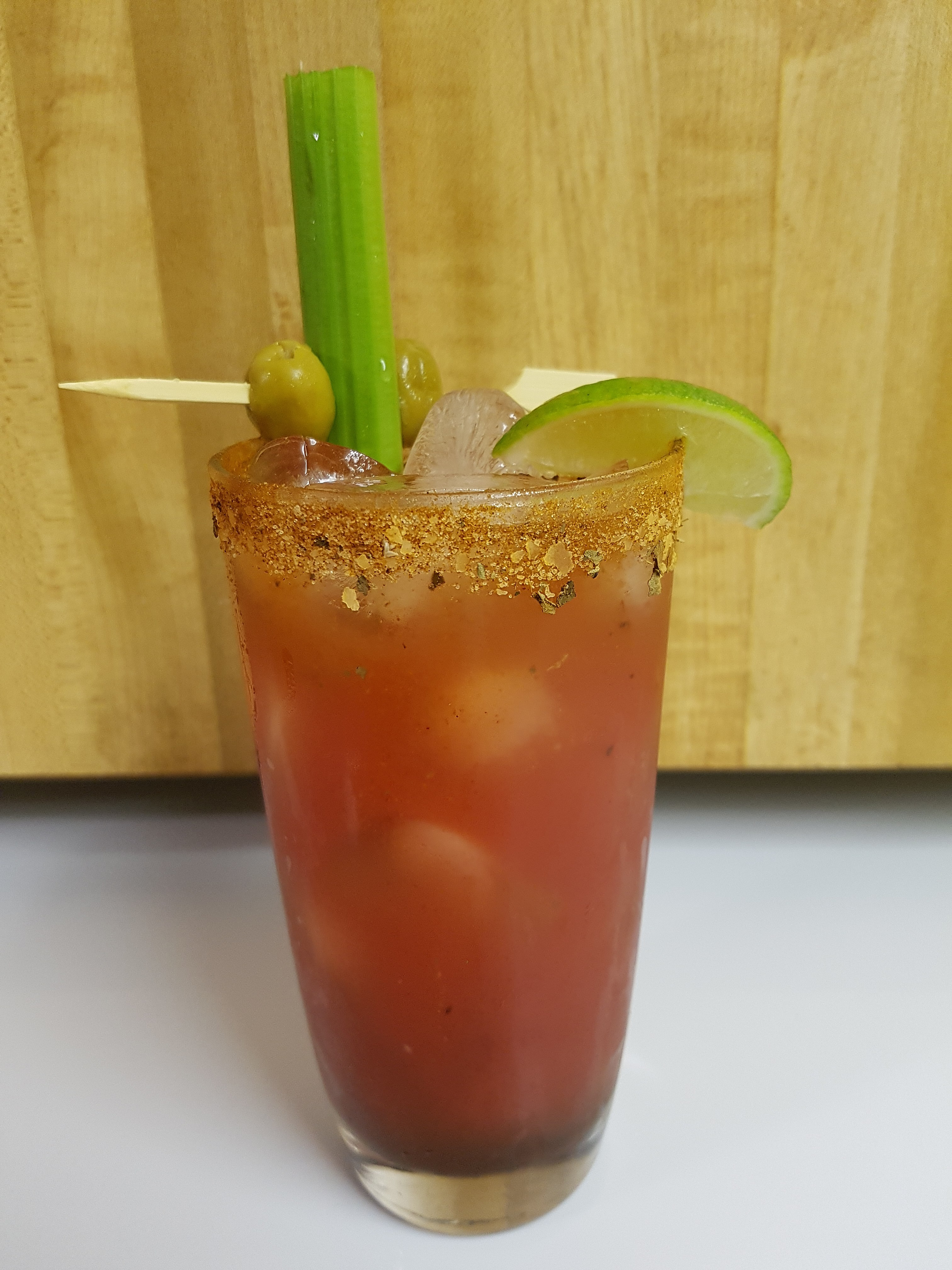 Bloody Caesar, a red cocktail