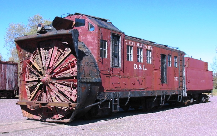 rotary snowplow used on railroads