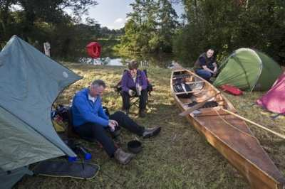 Copney campsite on Blackwater