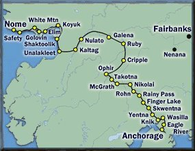 Percorso dell'Iditarod