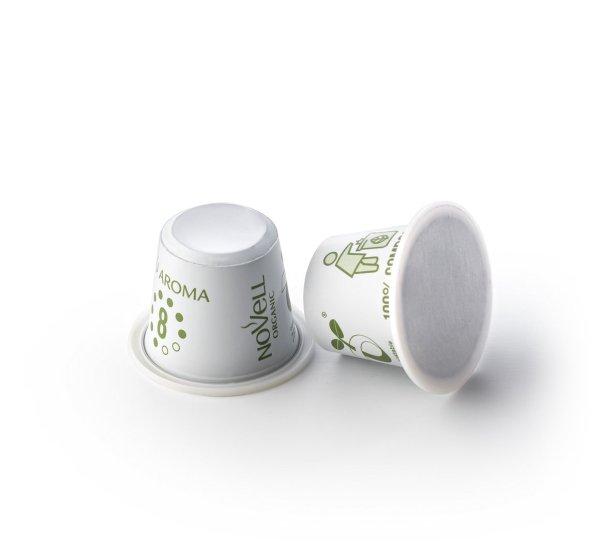 Piu Aroma no waste compostable capsules organic premium coffee