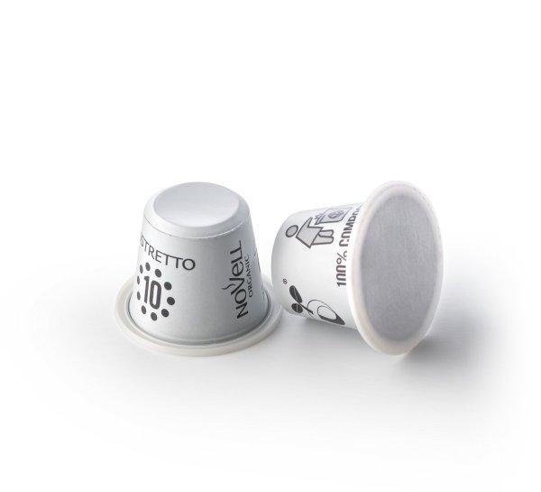 Ristretto compostable capsules organic premium coffee