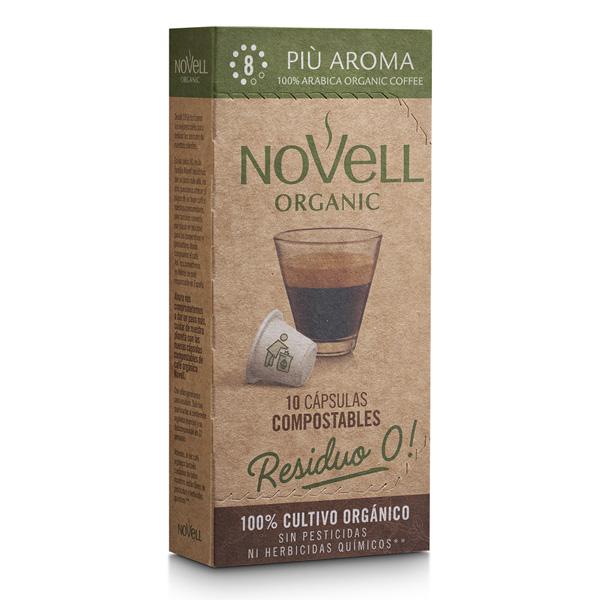 Più Aroma organic premium coffee no waste compostable capsules