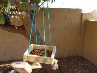 Dondurma Çubuklarından Kuş Yemliği ve Salıncak Yapımı (18)