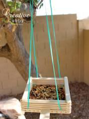 Dondurma Çubuklarından Kuş Yemliği ve Salıncak Yapımı (19)