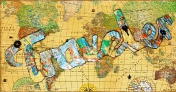 Harita ve Atlas ile Ev Dekoru Süslemesi (23)