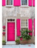 Rengarenk çiçekli kapı giriş tasarımları (1)