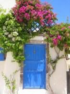 Rengarenk çiçekli kapı giriş tasarımları (16)