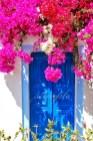 Rengarenk çiçekli kapı giriş tasarımları (18)