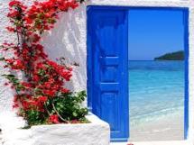 Rengarenk çiçekli kapı giriş tasarımları (23)