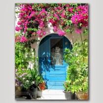 Rengarenk çiçekli kapı giriş tasarımları (5)