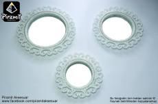 İncili 3lü Ayna Seti Modelleri