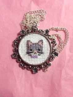 Kanaviçe Kedi (10)