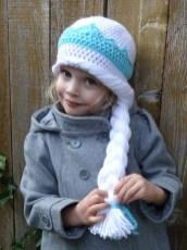 Elsa Örgü Bere Modeli Frozen Hat Crochet (19)