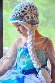 Elsa Örgü Bere Modeli Frozen Hat Crochet (37)