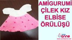 Amigurumi Çilek Kız Elbise Örülüşü