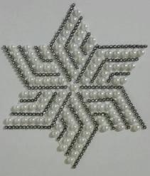 2 renkli yıldız Kasnak, Boncuk İşi (2)