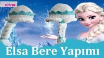Örgü Elsa Bere Yapımı - Frozen Elsa Disney Bere