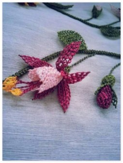 İğne Oyası Küpe Çiçeği Örnekleri (31)