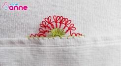 İğne Oyası Yediveren Çiçeği Modeli - Havlu Kenarı 15