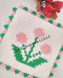 Çiçek kare lif modeli