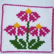 Yaz çiçeği kare lif modeli