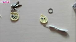 Tığ işi emoji anahtarlık yapımı (5)