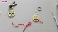 Tığ işi emoji anahtarlık yapımı (6)