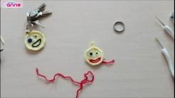 Tığ işi emoji anahtarlık yapımı (7)