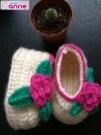Kolay Kız Bebek Patiği Çiçekli Yapımı (4)