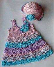 Bebek Yazlık Örgü Elbise Modelleri-1