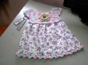 Bebek Yazlık Örgü Elbise Modelleri-2