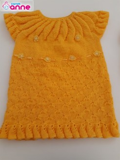Robalı Bebek Elbise Yapımı - Örgü Çim Modeli