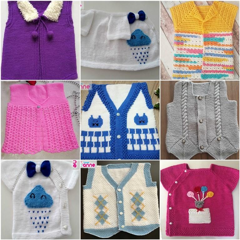 Bebek yelek modelleri 9 adet