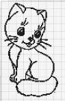 Kanaviçe (Etamin) Kedi Şablonları (10)