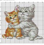 Kanaviçe (Etamin) Kedi Şablonları (30)