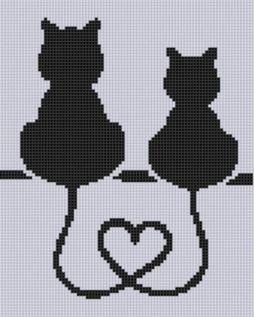 Kanaviçe (Etamin) Kedi Şablonları (32)