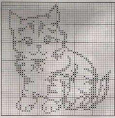 Kanaviçe (Etamin) Kedi Şablonları (34)