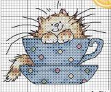 Kanaviçe (Etamin) Kedi Şablonları (36)