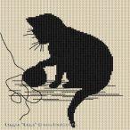 Kanaviçe (Etamin) Kedi Şablonları (8)