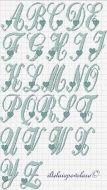 Kanaviçe, etamin alfabe, harf ve rakam şablonu (24)