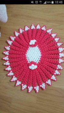 Oval çiçekli lif modeli