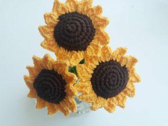 Amigurumi ayçiçeği yapılışı