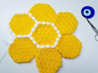 Sarı çiçek lif modeli