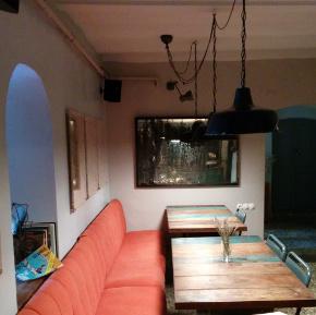 Upstairs area at Cuma café in Cukurcuma