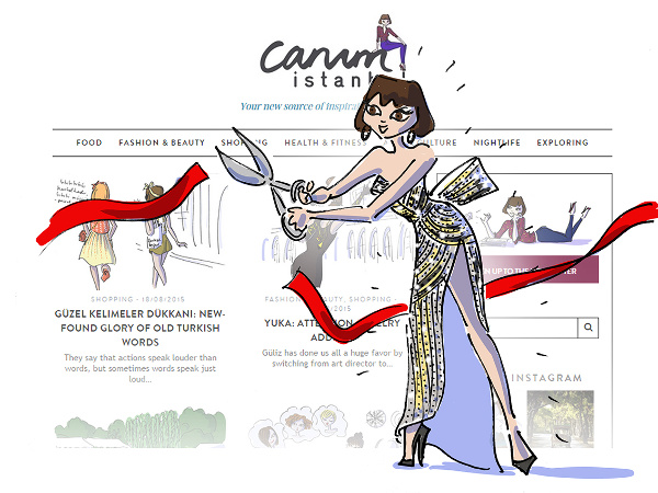 Girl cutting the ribbon to inaugurate Canım Istanbul's new website