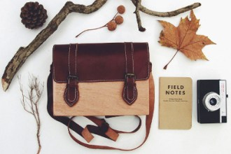 GravGrav satchel wooden bag and accessories